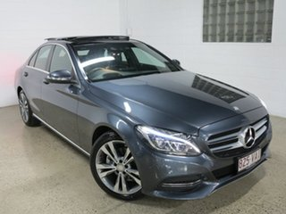 2014 Mercedes-Benz C-Class W205 C200 7G-Tronic + Tenorite Grey 7 Speed Sports Automatic Sedan.