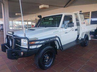 2010 Toyota Landcruiser VDJ79R 09 Upgrade Workmate (4x4) French Vanilla 5 Speed Manual Cab Chassis