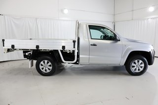 2014 Volkswagen Amarok 2H MY14 TSI300 4x2 Silver 6 Speed Manual Cab Chassis.