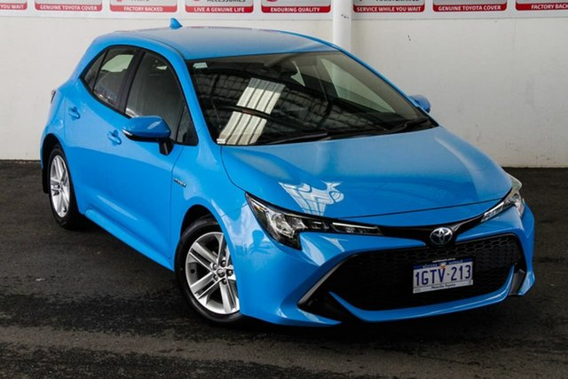 Pre-Owned Toyota Corolla ZWE211R Ascent Sport E-CVT Hybrid Myaree, 2019 Toyota Corolla ZWE211R Ascent Sport E-CVT Hybrid Eclectic Blue 10 Speed Constant Variable