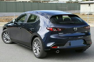 2021 Mazda 3 BP2H7A G20 SKYACTIV-Drive Pure Deep Crystal Blue 6 Speed Sports Automatic Hatchback.