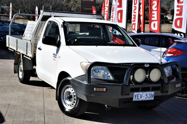 Used Toyota Hilux TGN16R MY07 Workmate 4x2 Phillip, 2007 Toyota Hilux TGN16R MY07 Workmate 4x2 White 5 Speed Manual Cab Chassis