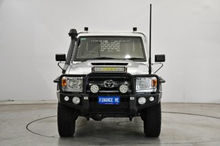 2020 Toyota Landcruiser VDJ79R GXL Double Cab Silver 5 Speed Manual Cab Chassis.