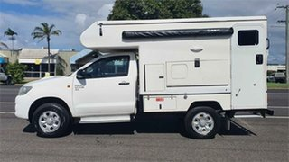 2012 Toyota Hilux KUN26R MY12 SR White 5 Speed Manual Cab Chassis
