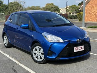 2017 Toyota Yaris NCP130R Ascent Blue 4 Speed Automatic Hatchback.