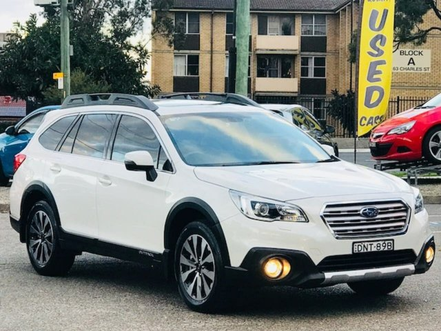 Used Subaru Outback B6A MY17 2.0D CVT AWD Premium Liverpool, 2017 Subaru Outback B6A MY17 2.0D CVT AWD Premium White 7 Speed Constant Variable Wagon