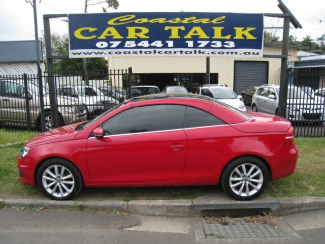 Used Volkswagen EOS 1F MY12 103 TDI Nambour, 2011 Volkswagen EOS 1F MY12 103 TDI Red 6 Speed Direct Shift Convertible