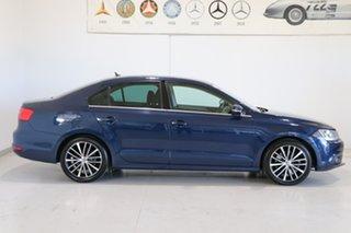 2012 Volkswagen Jetta 1B MY13 147TSI DSG Highline Blue 6 Speed Sports Automatic Dual Clutch Sedan
