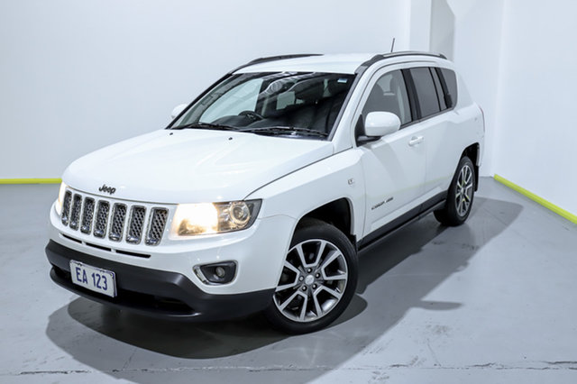 Used Jeep Compass MK MY14 Limited Canning Vale, 2014 Jeep Compass MK MY14 Limited White 6 Speed Sports Automatic Wagon