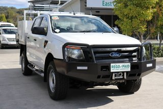 2012 Ford Ranger PX XL Cool White 6 speed Automatic Cab Chassis.
