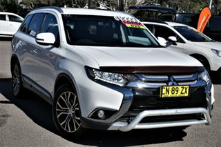 2016 Mitsubishi Outlander ZK MY17 LS 2WD White 6 Speed Constant Variable Wagon.