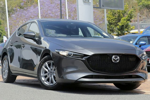 New Mazda 3 BP2H7A G20 SKYACTIV-Drive Pure Kirrawee, 2021 Mazda 3 BP2H7A G20 SKYACTIV-Drive Pure Machine Grey 6 Speed Sports Automatic Hatchback