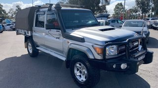 2017 Toyota Landcruiser VDJ79R GXL Double Cab Silver 5 Speed Manual Cab Chassis.