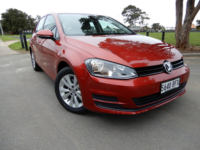 Used Volkswagen Golf VII MY15 90TSI DSG Comfortline Glenelg, 2015 Volkswagen Golf VII MY15 90TSI DSG Comfortline Red 7 Speed Sports Automatic Dual Clutch