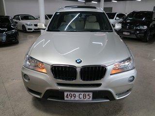2012 BMW X3 F25 MY1011 xDrive20d Steptronic Mineral Silver 8 Speed Automatic Wagon.