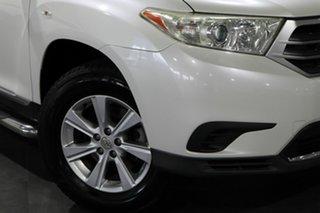 2012 Toyota Kluger GSU45R MY12 KX-R AWD White 5 Speed Sports Automatic Wagon.