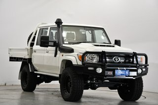 2021 Toyota Landcruiser VDJ79R GXL Double Cab White 5 Speed Manual Cab Chassis