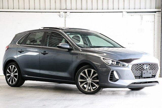 Used Hyundai i30 PD2 MY19 Premium Laverton North, 2018 Hyundai i30 PD2 MY19 Premium Grey 6 Speed Sports Automatic Hatchback