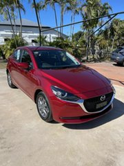 2021 Mazda 2 Q G15 Pure Red 6 Speed Automatic Hatchback.
