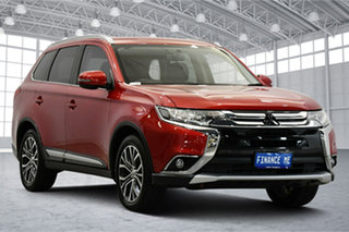 2017 Mitsubishi Outlander ZK MY17 LS 2WD Burgundy 6 Speed Constant Variable Wagon.
