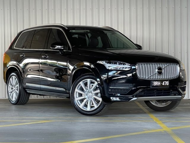 Used Volvo XC90 L Series MY16 D5 Geartronic AWD Inscription Moorabbin, 2015 Volvo XC90 L Series MY16 D5 Geartronic AWD Inscription Black 8 Speed Sports Automatic Wagon
