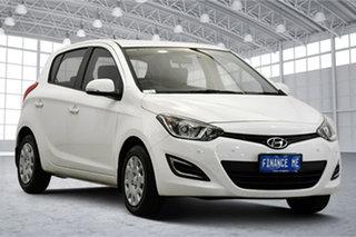 2015 Hyundai i20 PB MY16 Active White 4 Speed Automatic Hatchback.