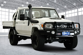 2021 Toyota Landcruiser VDJ79R GXL Double Cab White 5 Speed Manual Cab Chassis.