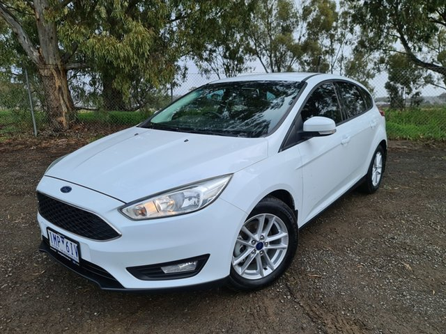 Used Ford Focus LZ Trend Epsom, 2017 Ford Focus LZ Trend White 6 Speed Automatic Hatchback
