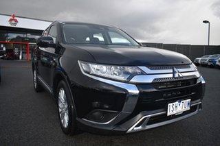 2020 Mitsubishi Outlander ZL MY20 ES 2WD Black 6 Speed Constant Variable Wagon.