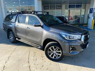 2019 Toyota Hilux GUN126R SR5 Double Cab Grey 6 Speed Sports Automatic Utility.