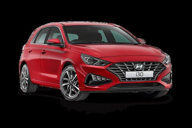 New Hyundai i30 PD.V4 MY21 Active Hamilton, 2021 Hyundai i30 PD.V4 MY21 Active Fiery Red 6 Speed Sports Automatic Hatchback