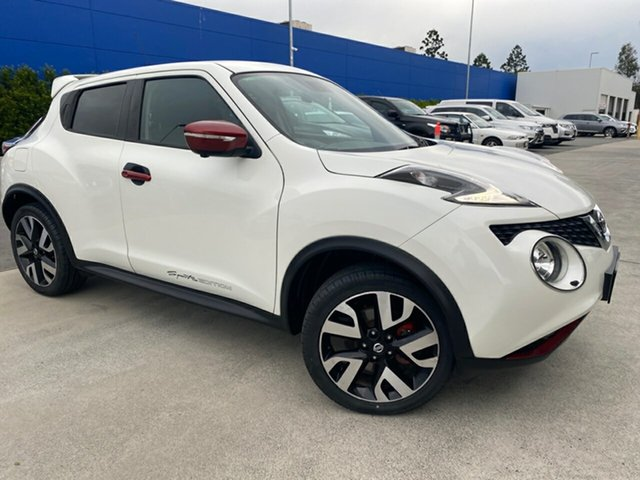 Used Nissan Juke F15 Series 2 Ti-S X-tronic AWD N-SPORT Aspley, 2016 Nissan Juke F15 Series 2 Ti-S X-tronic AWD N-SPORT White 1 Speed Constant Variable Hatchback
