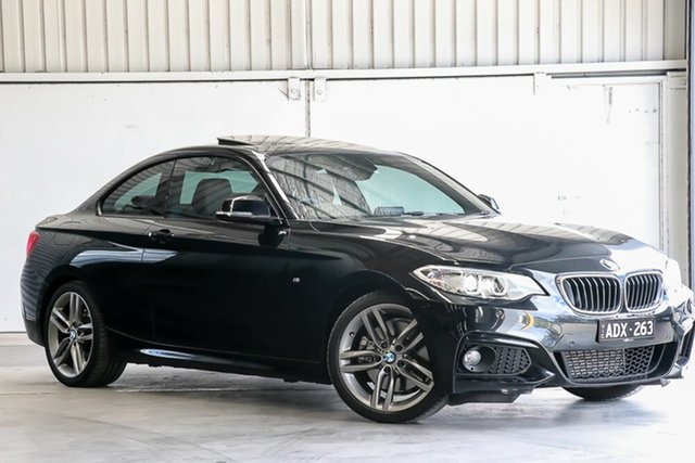 Used BMW 2 Series F22 228i M Sport Laverton North, 2014 BMW 2 Series F22 228i M Sport Black 8 Speed Sports Automatic Coupe