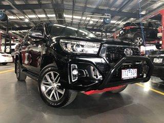 2018 Toyota Hilux GUN126R SR5 Double Cab Eclipse Black 6 Speed Sports Automatic Utility.
