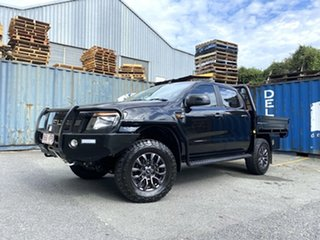 2015 Ford Ranger PX XLS Double Cab Black 6 Speed Manual Utility