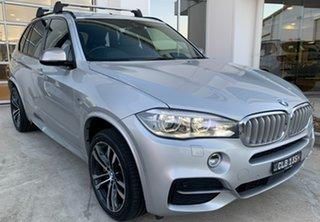 2016 BMW X5 F15 M50D Silver 8 Speed Sports Automatic Wagon.