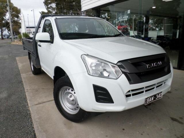 Pre-Owned Isuzu D-MAX TF MY19 SX HI-Ride (4x2) Wangaratta, 2019 Isuzu D-MAX TF MY19 SX HI-Ride (4x2) White 6 Speed Automatic Cab Chassis