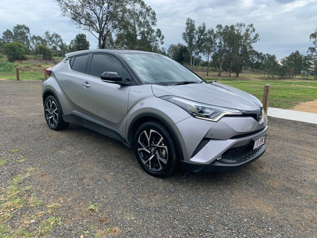 Pre-Owned Toyota C-HR NGX10R Koba S-CVT 2WD Oakey, 2018 Toyota C-HR NGX10R Koba S-CVT 2WD Shadow Platinum & Black Roof 7 Speed Constant Variable Wagon