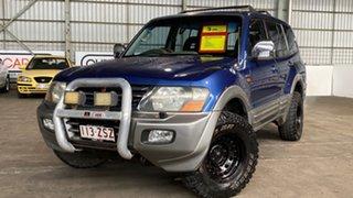 2000 Mitsubishi Pajero NM GLS Blue 5 Speed Sports Automatic Wagon.