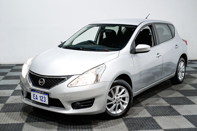 Used Nissan Pulsar C12 ST Edgewater, 2013 Nissan Pulsar C12 ST Silver 1 Speed Constant Variable Hatchback