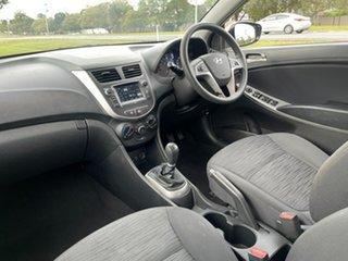 2016 Hyundai Accent RB3 MY16 Active White 6 Speed Manual Sedan