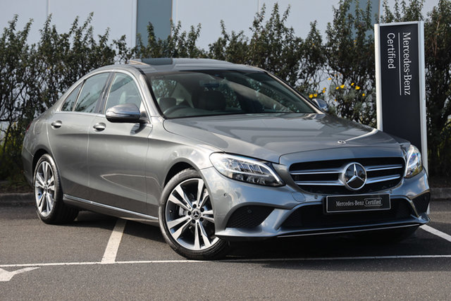 Certified Pre-Owned Mercedes-Benz C-Class W205 800+050MY C200 9G-Tronic Mulgrave, 2020 Mercedes-Benz C-Class W205 800+050MY C200 9G-Tronic Selenite Grey 9 Speed Sports Automatic