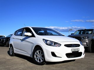 2013 Hyundai Accent RB Active White 5 Speed Manual Hatchback.
