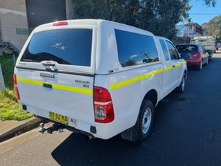 2013 Toyota Hilux GGN15R MY12 SR White 5 Speed Automatic X Cab Pickup.
