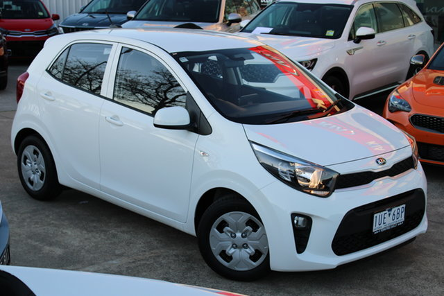 Demo Kia Picanto JA MY21 S Ferntree Gully, 2021 Kia Picanto JA MY21 S Clear White 4 Speed Automatic Hatchback