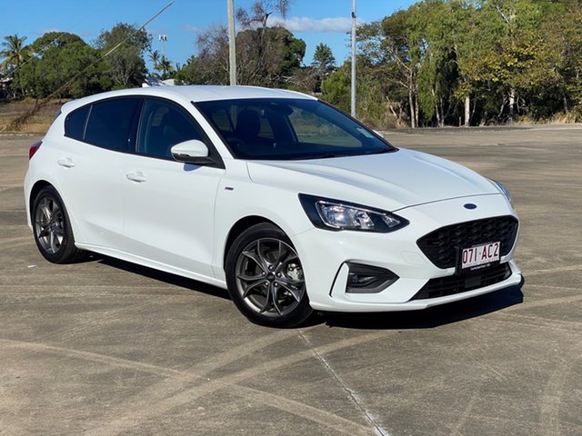 Used Ford Focus SA 2019.25MY ST-Line Townsville, 2018 Ford Focus SA 2019.25MY ST-Line Frozen White 8 Speed Automatic Hatchback
