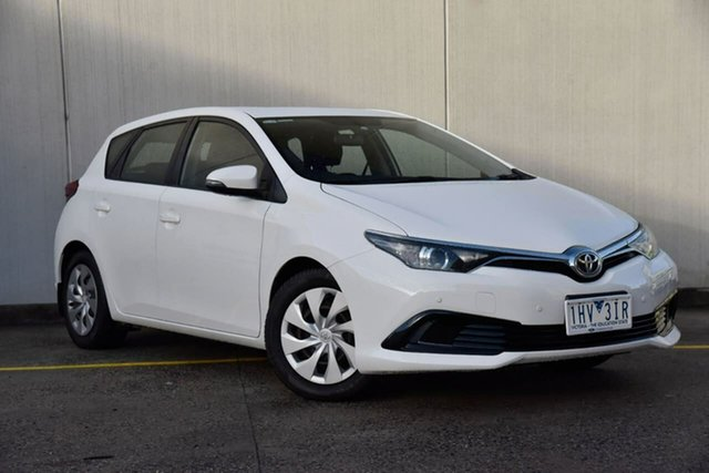 Used Toyota Corolla ZRE182R Ascent S-CVT Oakleigh, 2016 Toyota Corolla ZRE182R Ascent S-CVT White 7 Speed Constant Variable Hatchback