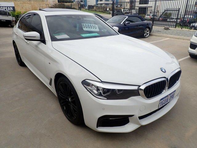 Used BMW 520d F10 MY17 M Sport Wangara, 2017 BMW 520d F10 MY17 M Sport Polar White 8 Speed Automatic Sedan