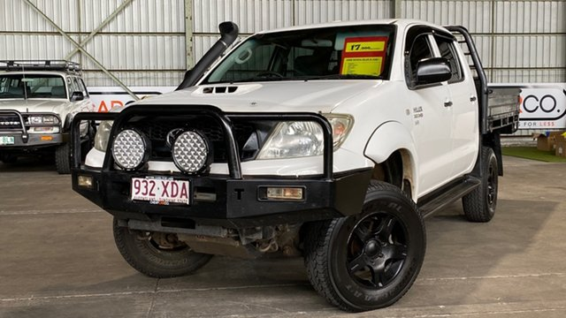 Used Toyota Hilux KUN26R MY08 SR Rocklea, 2008 Toyota Hilux KUN26R MY08 SR White 5 Speed Manual Cab Chassis