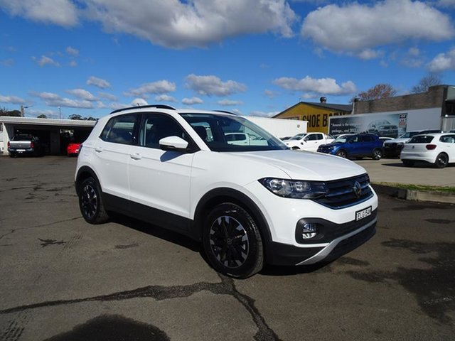 Used Volkswagen T-Cross C1 MY21 85TSI DSG FWD Life Nowra, 2020 Volkswagen T-Cross C1 MY21 85TSI DSG FWD Life Pure White 7 Speed Automatic Wagon